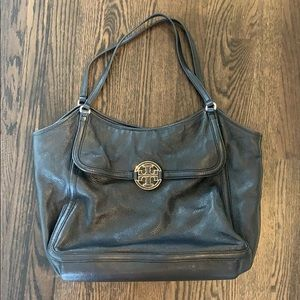 Black Tory Burch Amanda Tote